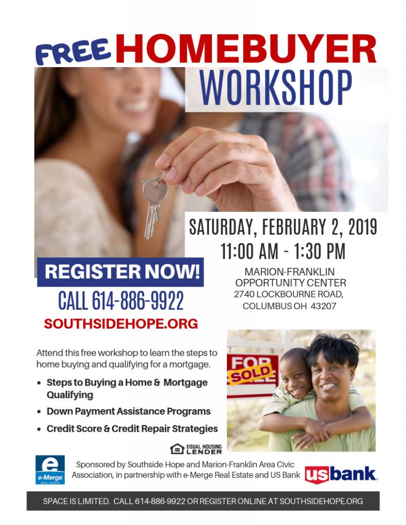 Free Homebuyer Workshop in South Columbus
