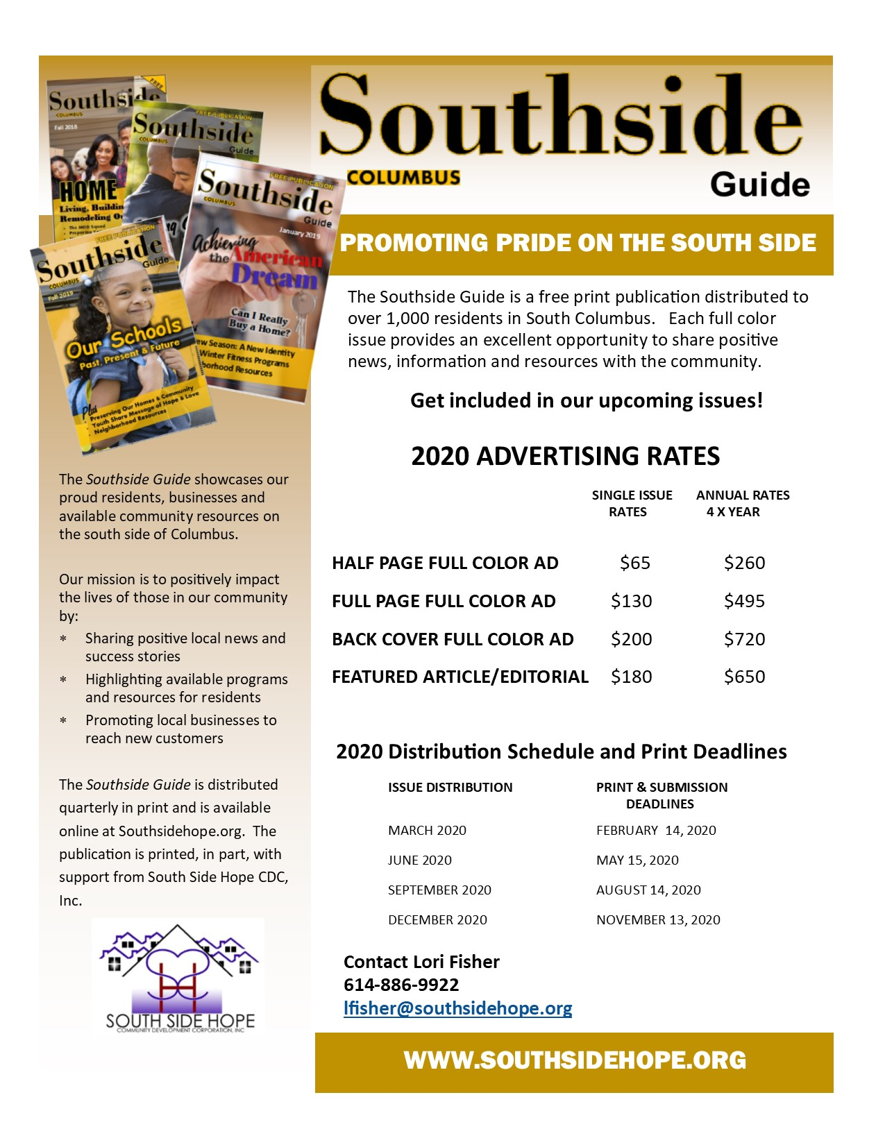 Southside Guide Advertising Rates 2020