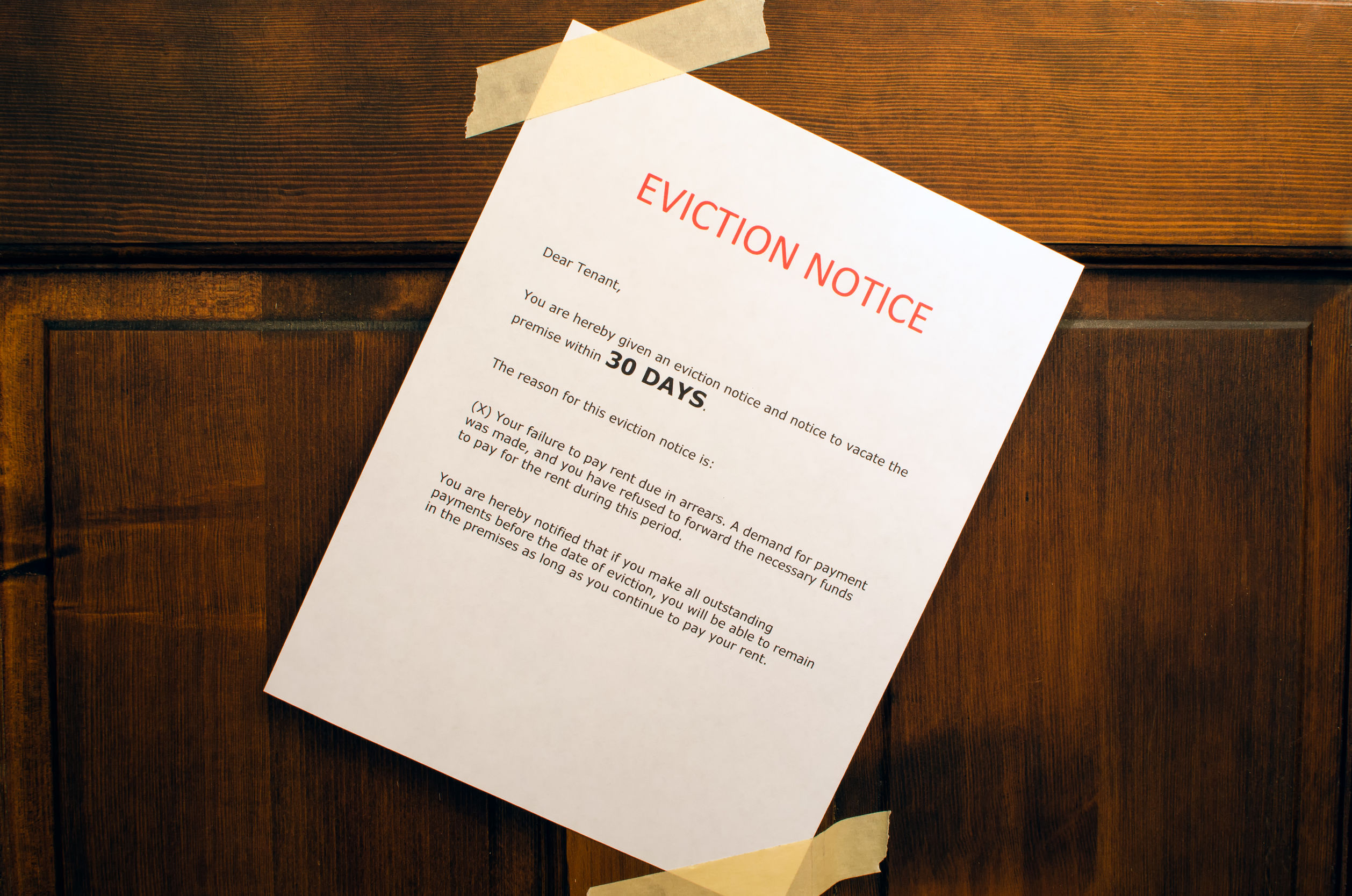 Eviction - How to Avoid It