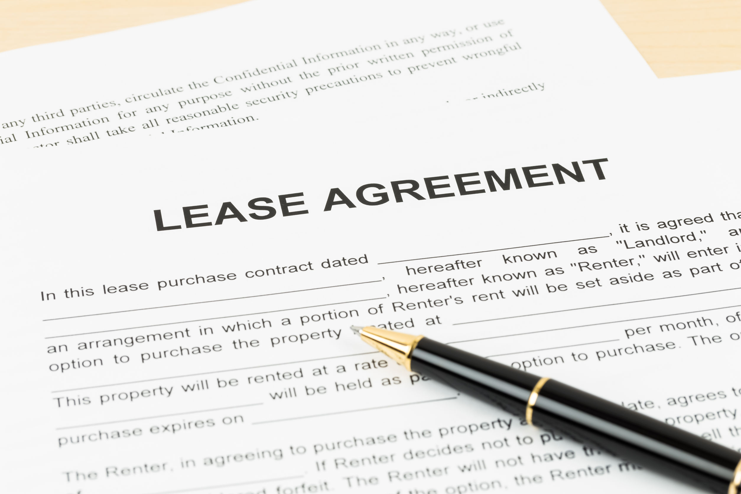 Eviction with a Lease