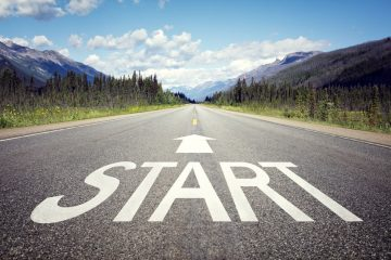 Start line to Reach Your Goals